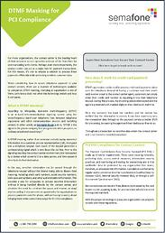 Download the DTMF Masking for PCI Compliance Brief Now
